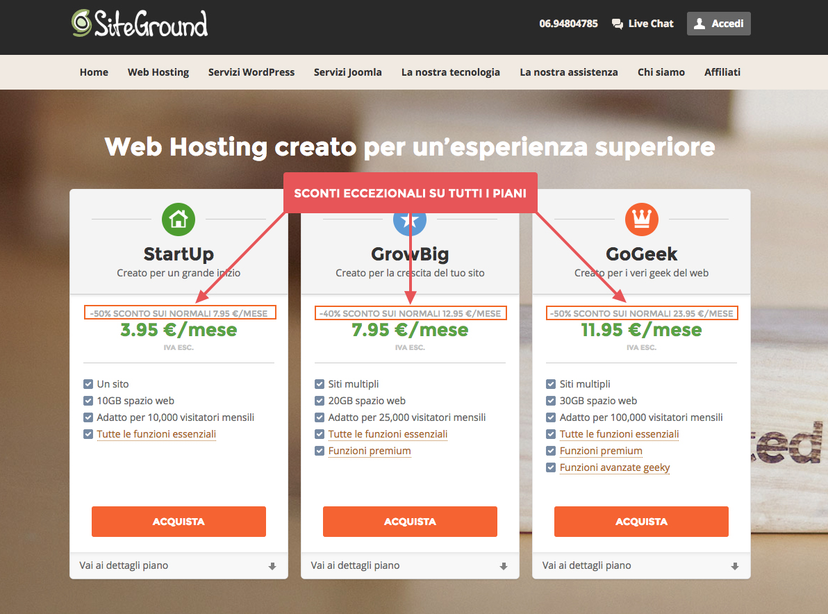 Come installare WordPress su Siteground